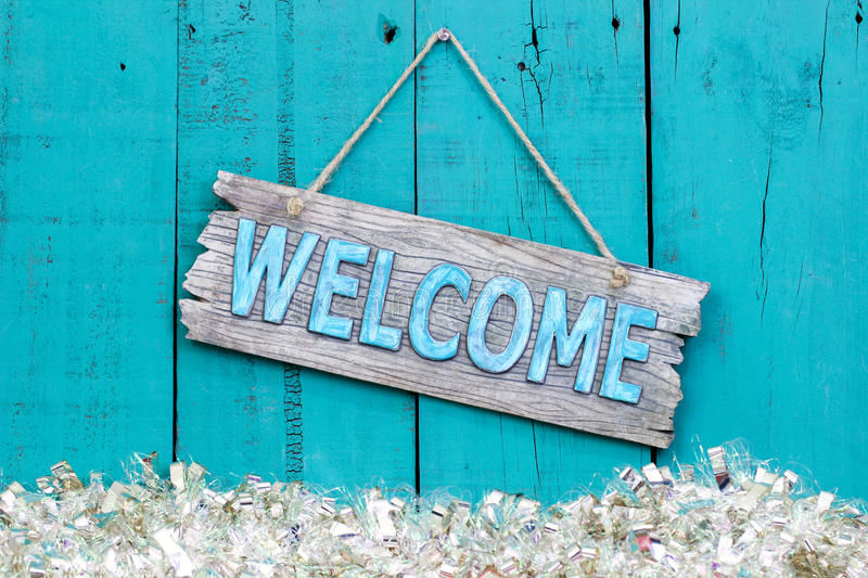 Holiday Welcome Sign Stock Image Image Of Greetings 61613569