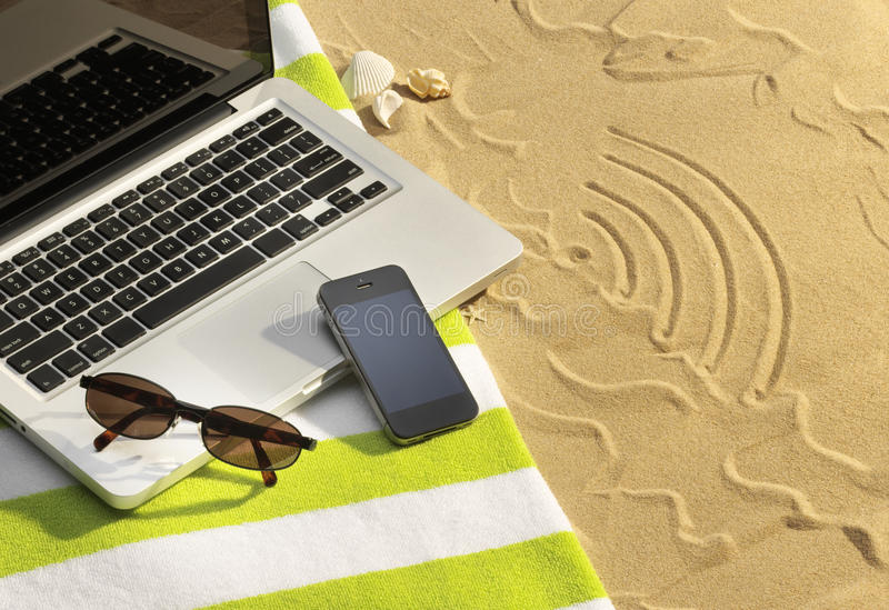 Download Holiday WiFi stock image. Image of computer, sunglasses - 33230681