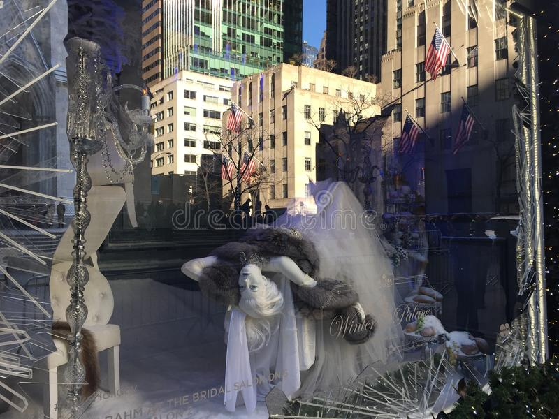 Holiday Window Displays At Saks Fifth Avenue In New York ...
