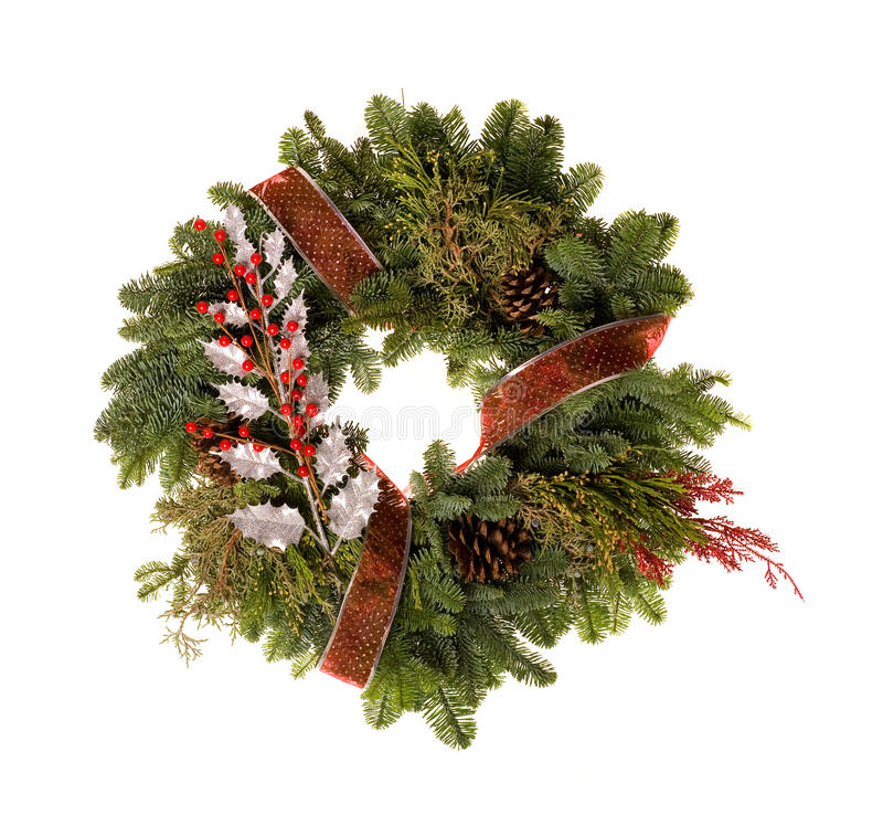 Download Holiday Wreath Royalty Free Stock Photography - Image: 12217127