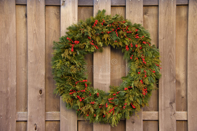 Holiday Wreath stock photos