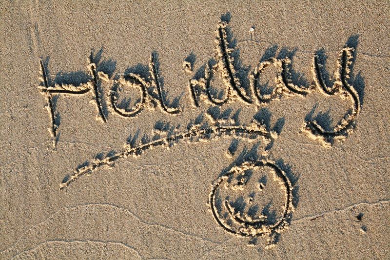 Seaside written in sand stock image. Image of cheerful ...