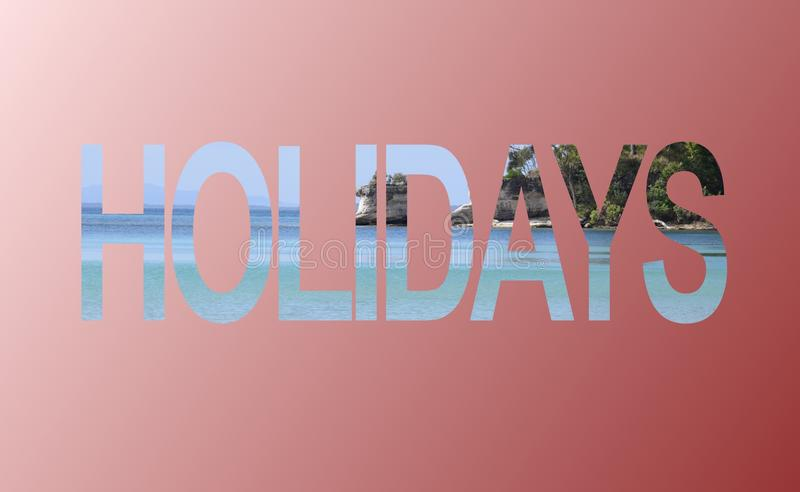 Holidays advertisement sign royalty free stock photography