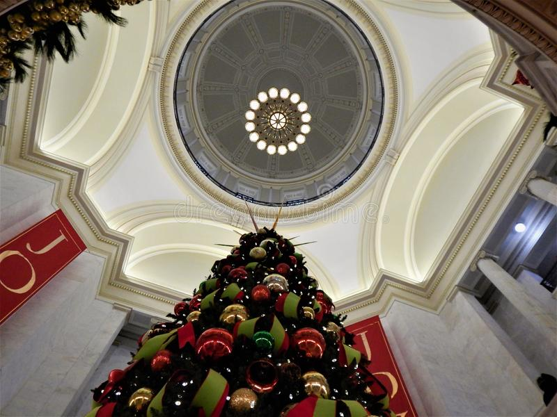 Holidays at the Arkansas Capitol royalty free stock photography