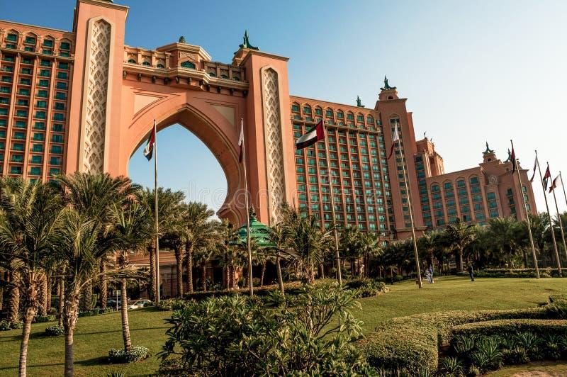 Holidays in Atlantis Tha Palm beach resort, Dubai, UAE royalty free stock photo
