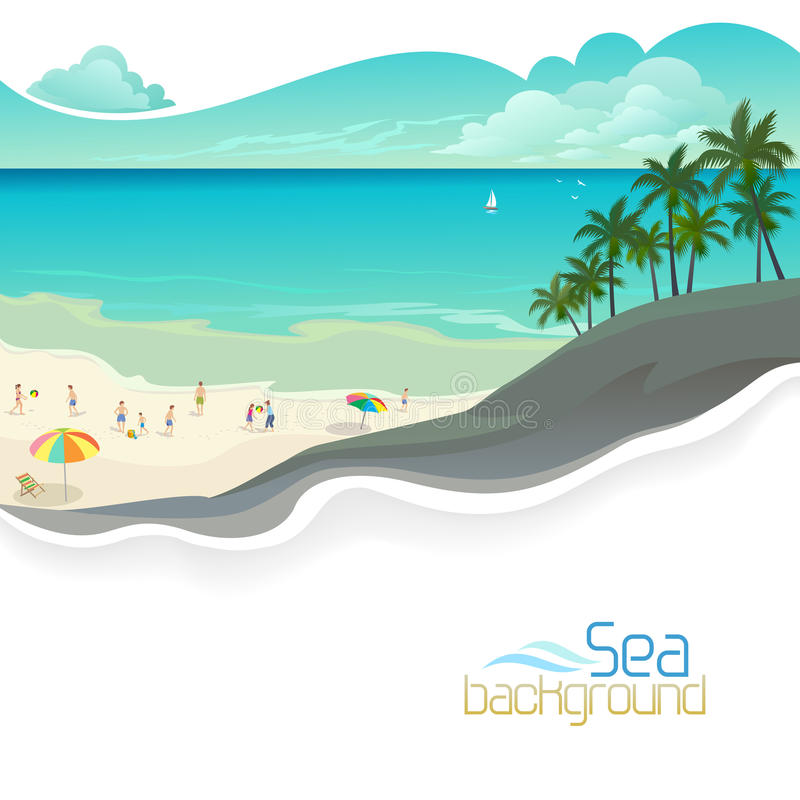Download Holidays On Bahamas Beach Resort Stock Vector - Illustration of graphic, holidays: 32972991