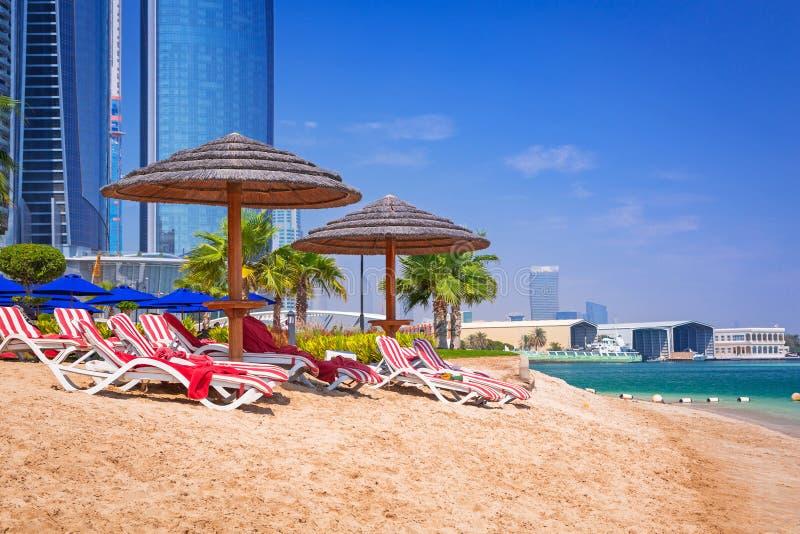 Download Holidays On The Beach In Abu Dhabi, United Arab Emirates Stock Image - Image of beautiful, destination: 40373447