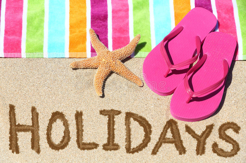 Download Holidays beach travel text stock image. Image of shoes - 37856447