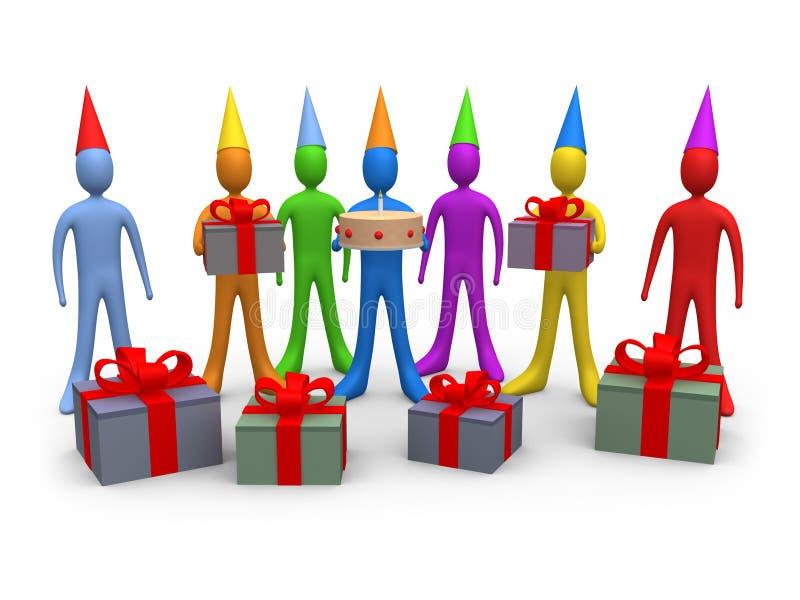 Holidays - Birthday stock illustration