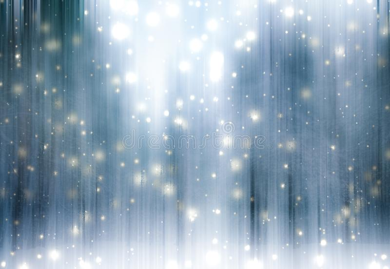 Winter season abstract nature art print and Christmas landscape holiday background, snowy magical forest as luxury brand postcard stock images