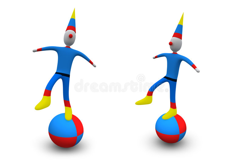 Download Holidays - Clown stock illustration. Image of balance - 1381254