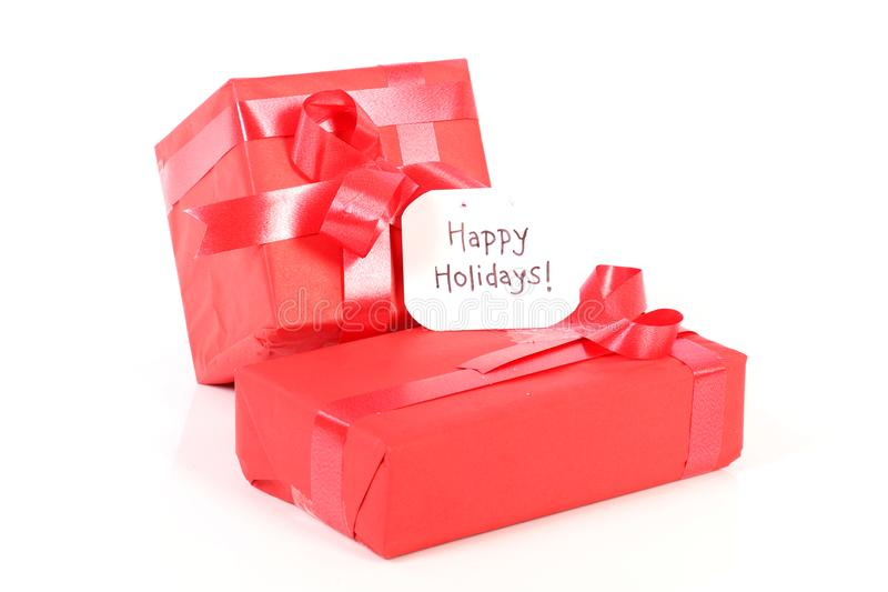 Holidays and gifts stock photography