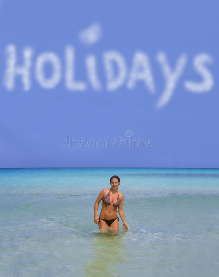 Holidays And Girl Stock Images