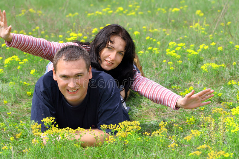 Download Holidays In The Grass stock image. Image of flowers, girlfriend - 774169