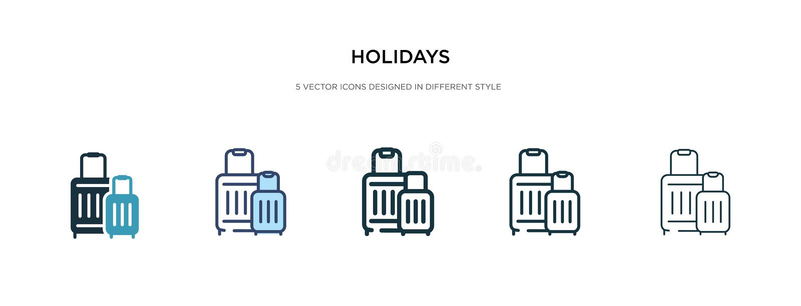 Holidays icon in different style vector illustration. two colored and black holidays vector icons designed in filled, outline, vector illustration