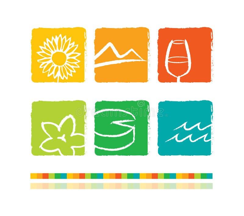 Holidays icons set vector illustration