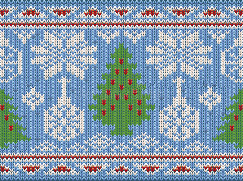 Holidays Merry Christmas seamless knitted background, vector stock illustration