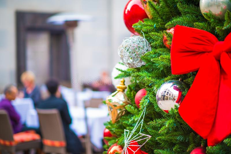 Holidays Outdoor Dining stock photography