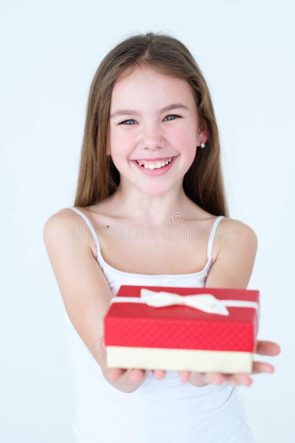 Holiday present gift kid birthday festive occasion stock image