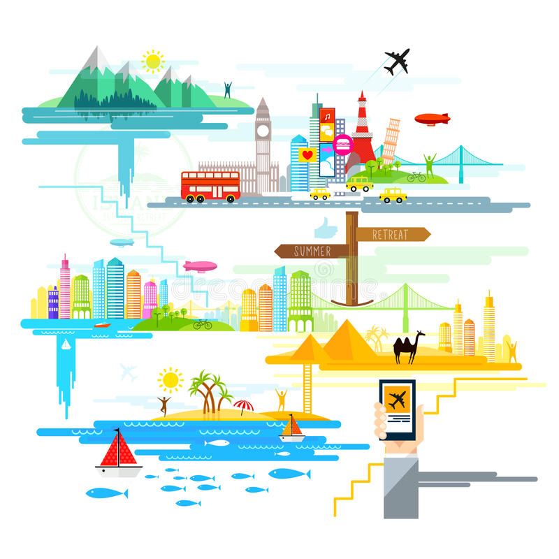 Holidays And Trips Abroad! vector illustration