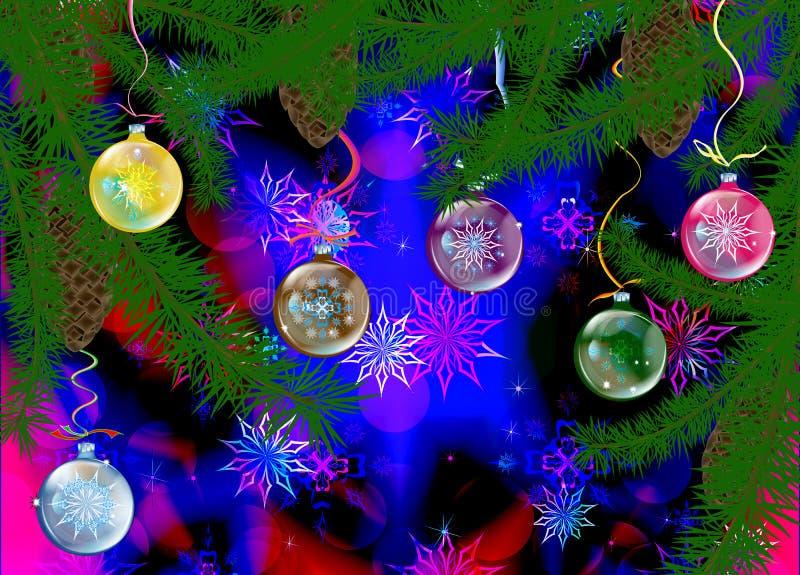 Holidays winter background vector illustration