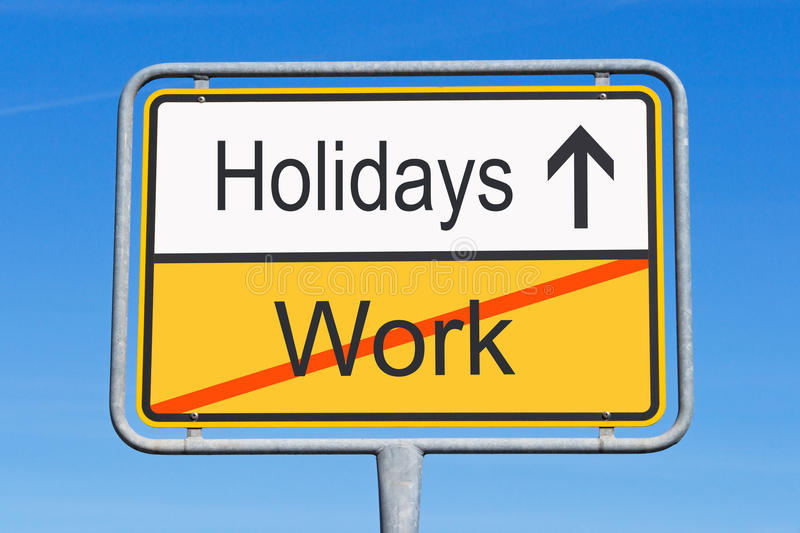 Holidays instead of work stock image