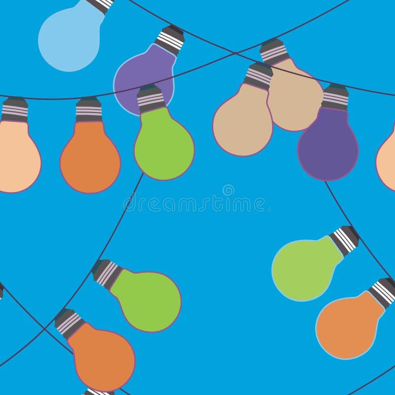 Holidqays allume les décorations de fête Ensemble de vecteur illustration stock