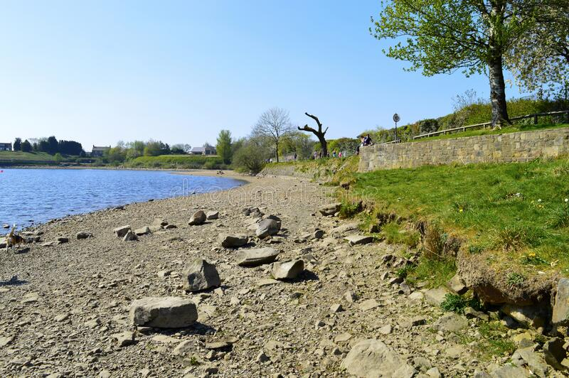 Holingworth lake in springtime stock photography