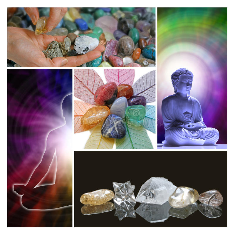 Holistic Helende Therapiecollage royalty-vrije stock foto's