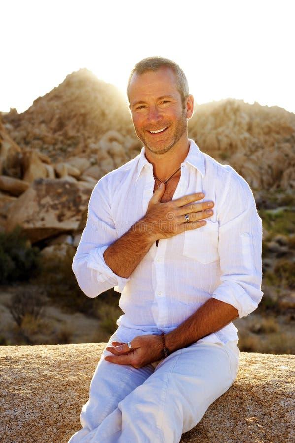 Holistic Yoga Man stock photos