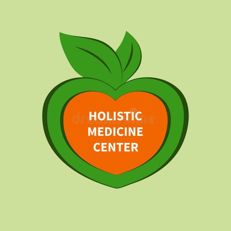 Holistic medisch centrum stock illustratie