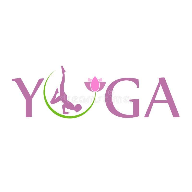 Holistiskt läka för Lotus symbol till och med yoga och meditation royaltyfri illustrationer
