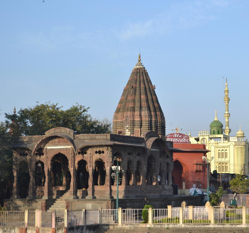 Holkar Chatri (markisen) Indore royaltyfri fotografi