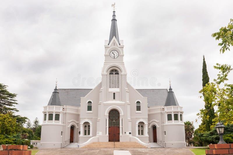 Holländare omdanad kyrka, Heidelberg, Sydafrika fotografering för bildbyråer