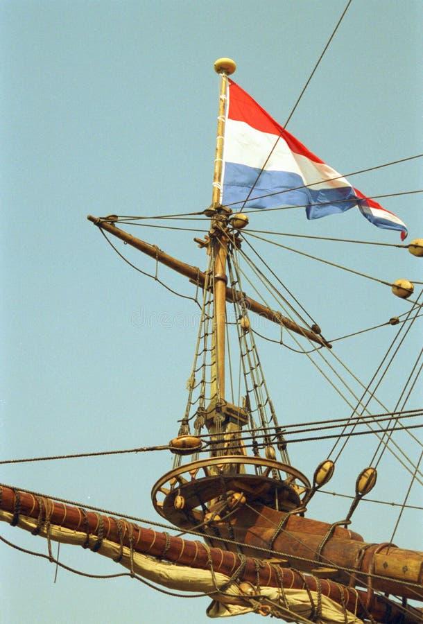 HolländareVOC-skepp från det guld- århundradet av Nederländerna arkivbild