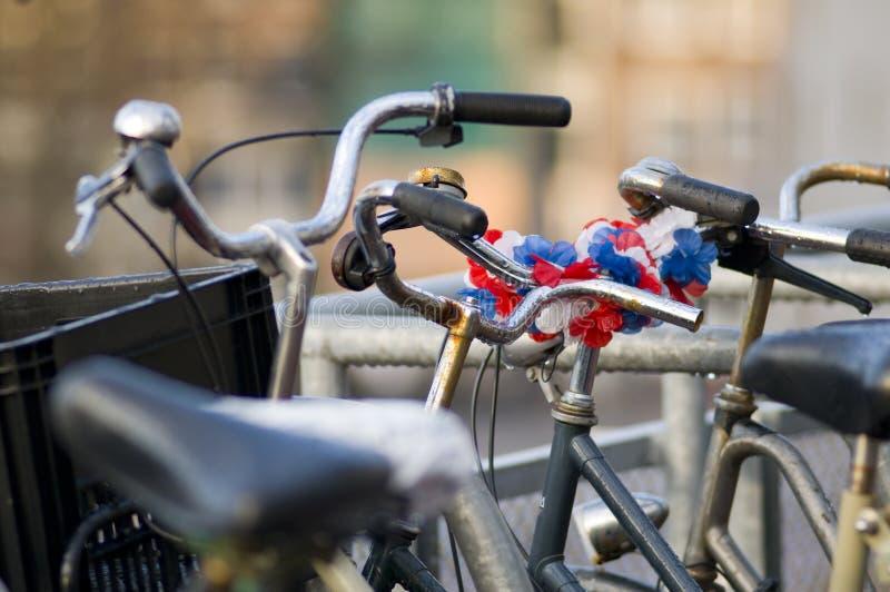 Holländische Fahrräder stockfotografie