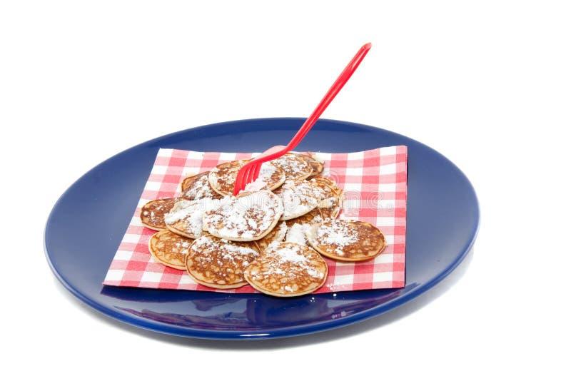 Holländische kleine Pfannkuchen lizenzfreie stockfotografie