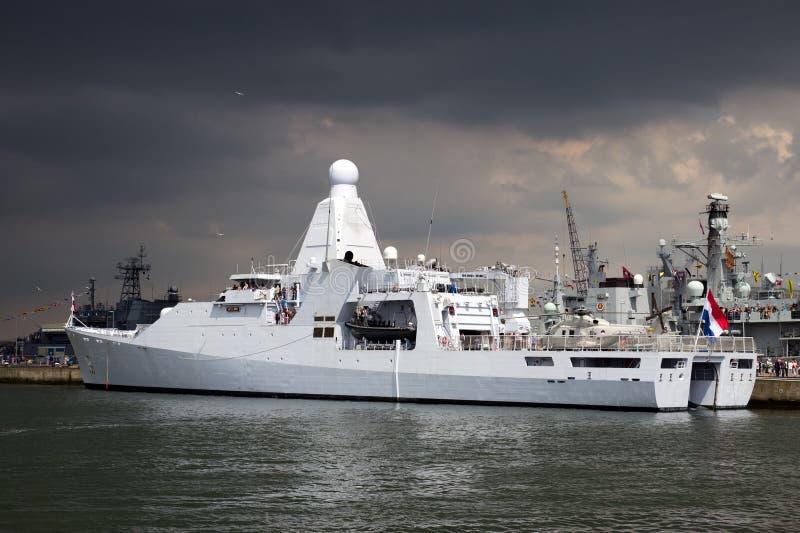 Holländische Marinepatrouillenlieferung stockbild