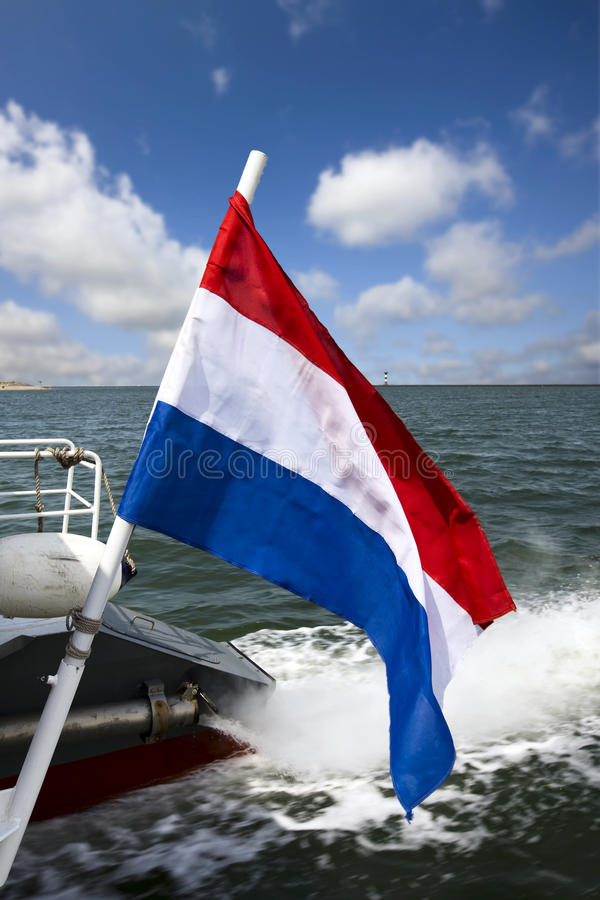 Holländische Markierungsfahne stockfotos