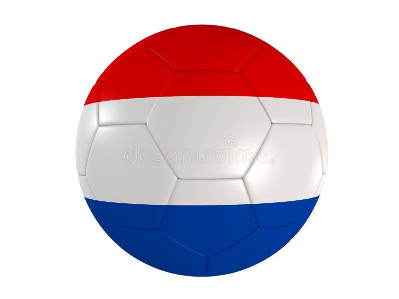 Holländische Markierungsfahne auf einem Fußball stock abbildung