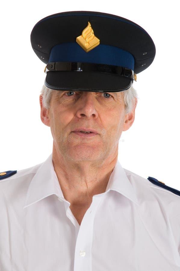 Holländische Polizei bemannt stockbild