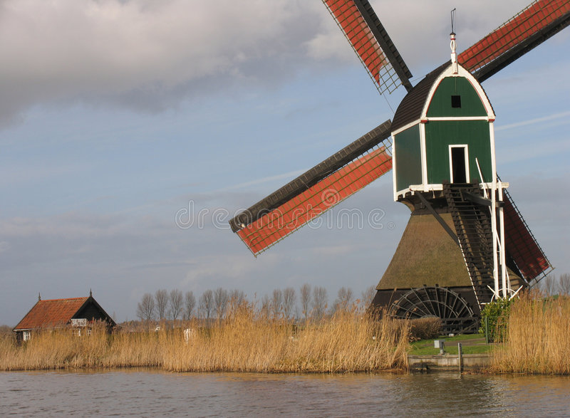 Holländische Windmühle 3 stockfotografie