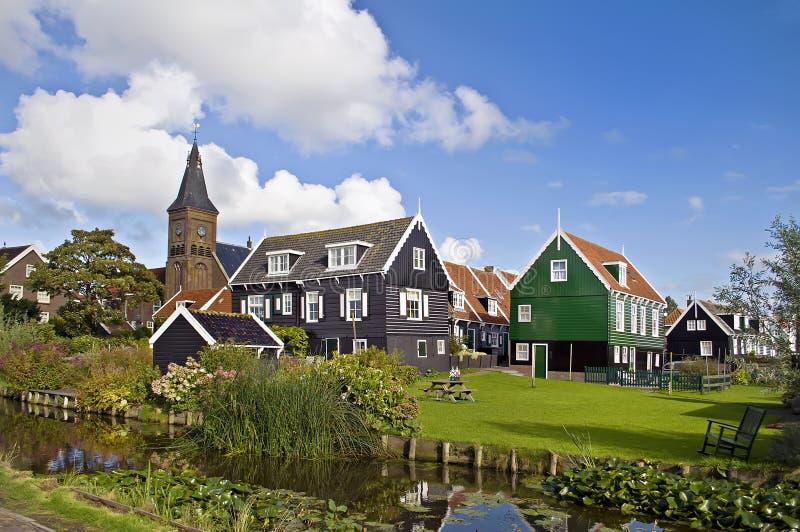 holländsk by arkivbild