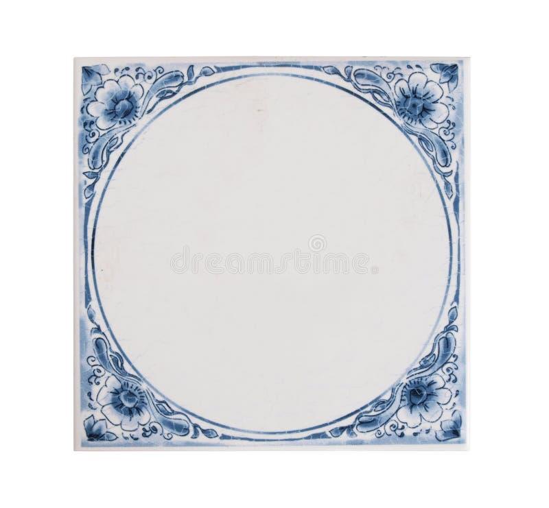 Holländsk blå tegelplatta royaltyfri fotografi