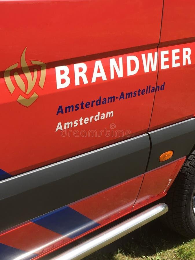 Holländsk brandmanlogo royaltyfria bilder
