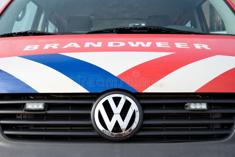 Holländsk brandmotor arkivfoto