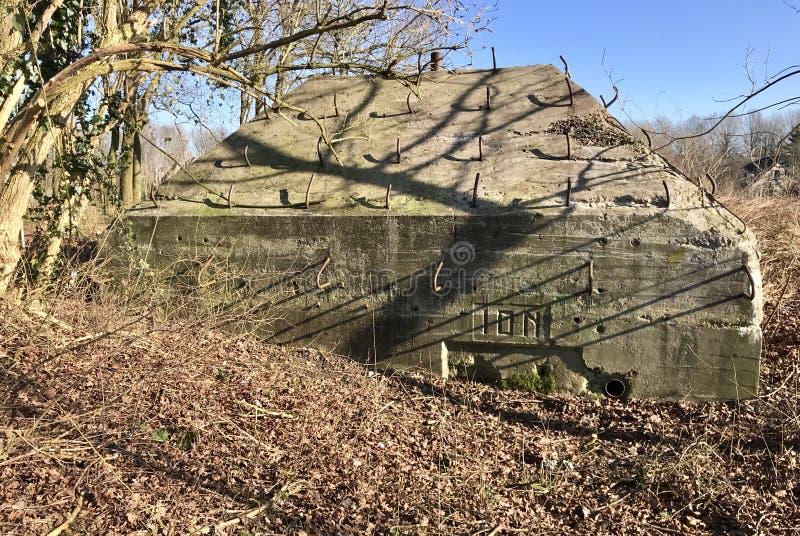 Holländsk bunker royaltyfria foton