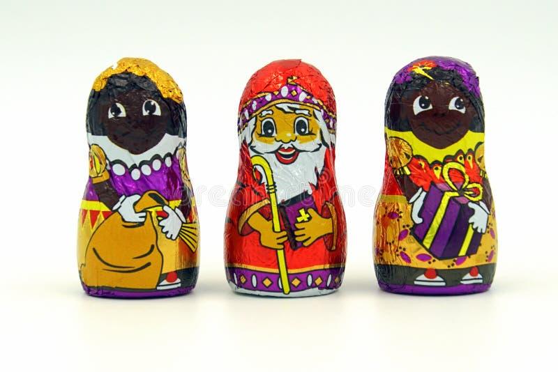 Holl?ndsk chokladgodis St Nicholas och Petes royaltyfria bilder