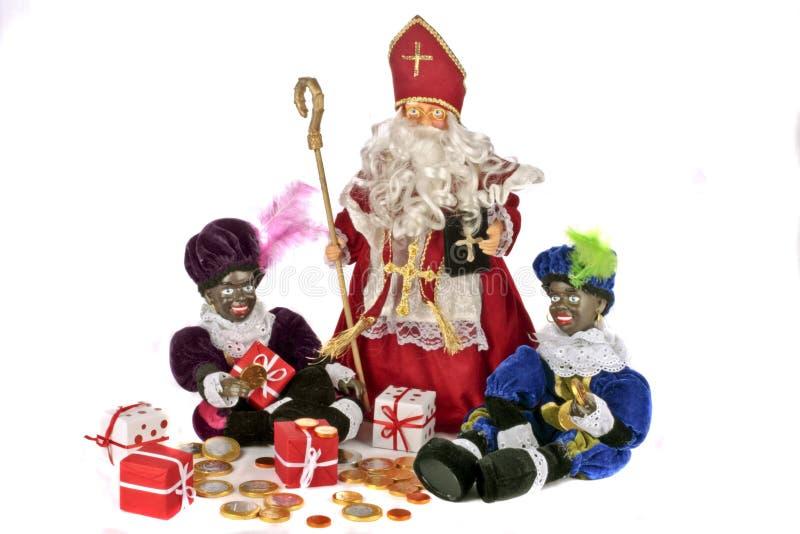 holländsk festmåltid traditionella santa för claus kultur arkivbild