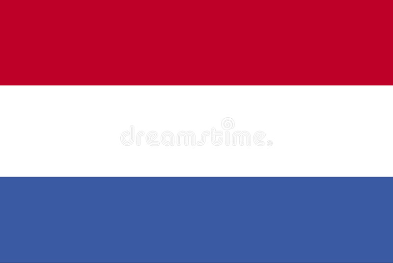 holländsk flagga royaltyfri illustrationer